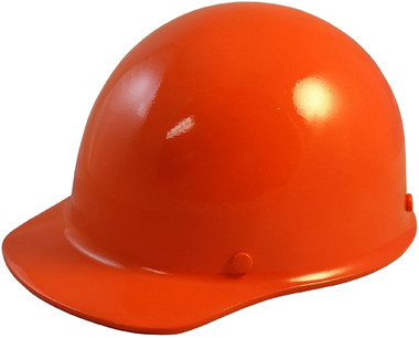 Skullgard Cap Style With Ratchet Suspension Orange - Oblique View