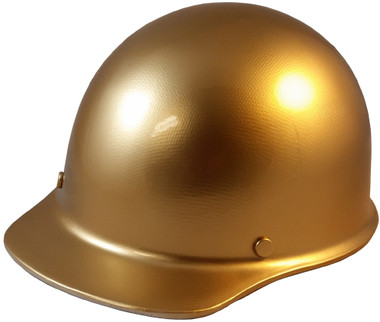 Skullgard Cap Style With Ratchet Suspension Gold - Oblique View