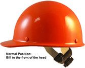 Skullgard Cap Style With Swing Suspension Orange - Swing Suspension in Normal Position