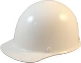 MSA Skullgard Cap Style With STAZ ON Suspension - White - Oblique View