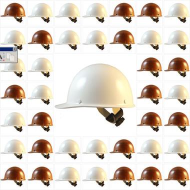 MSA Skullgard Cap Style Hard Hats - Swing Suspensions (Factory Colors)