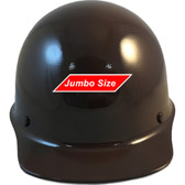 MSA Skullgard (LARGE SHELL) Cap Style Hard Hats with STAZ ON Suspension - Brown - Front View
