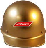 MSA Skullgard (LARGE SHELL) Cap Style Hard Hats with STAZ ON Suspension - Gold - Front View