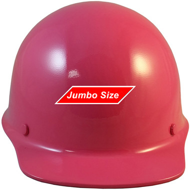 MSA Skullgard (LARGE SHELL) Cap Style Hard Hats with STAZ ON Suspension - Hot Pink - Front View