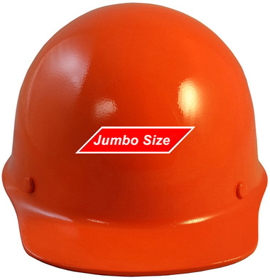 MSA Skullgard (LARGE SHELL) Cap Style Hard Hats with STAZ ON Suspension - Orange - Front View