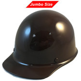 MSA Skullgard (LARGE SHELL) Cap Style Hard Hats with Ratchet Suspension - Brown - Oblique View