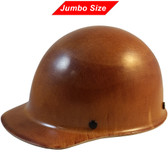 MSA Skullgard (LARGE SHELL) Cap Style Hard Hats with Ratchet Suspension - Natural Tan - Oblique View