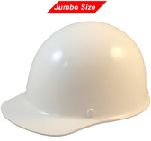 MSA Skullgard (LARGE SHELL) Cap Style Hard Hats with Ratchet Suspension - White - Oblique View