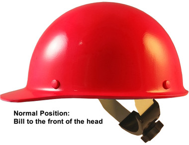 Skullgard Cap Style Hard Hats With Swing Suspension Neon Pink - Swing Suspension in Normal Position