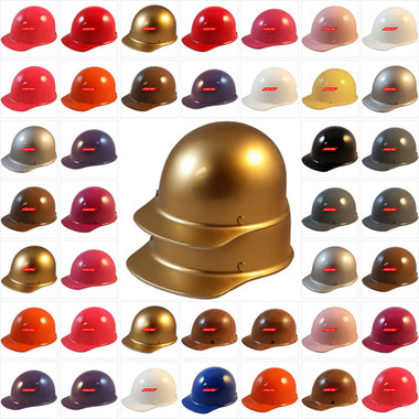 MSA Skullgard (LARGE SHELL) Cap Style Hard Hats with Ratchet Suspensions