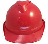 MSA Advance Red Vented Hard Hats with Staz On Suspensions Front