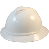 MSA Advance Full Brim Vented Hard Hats with Ratchet Suspensions White Oblique