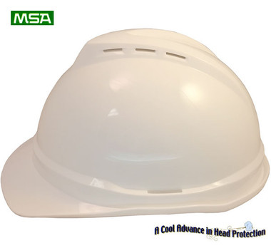 MSA Advance White 6 point Vented Hard Hats with Ratchet Suspensions pic 3