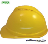 MSA Advance White 6 point Vented Hard Hats with Ratchet Suspensions pic 1