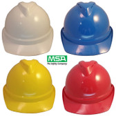 MSA Advance Vented Hard Hats with Staz On Suspensions