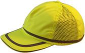 ERB Soft Bump Cap (Cap and Insert) - Hi Viz Lime - Oblique View