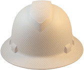 Pyramex Ridgeline Full Brim Style Hard Hat with White Graphite Pattern - Front View