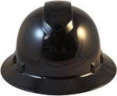 Pyramex Ridgeline Full Brim Hard Hat Shiny Black Graphite Pattern - Front View