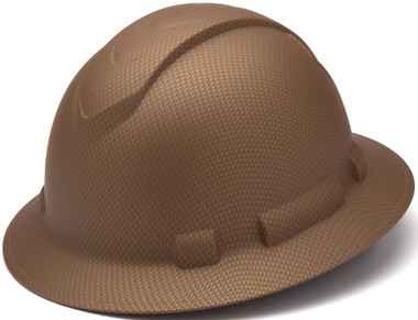 Pyramex Ridgeline Full Brim Style Hard Hat with Copper Graphite Pattern Oblique