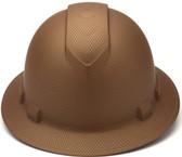 Pyramex Ridgeline Full Brim Style Hard Hat with Copper Graphite Pattern Front