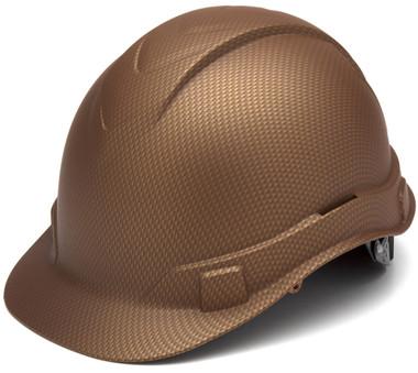 Pyramex Ridgeline Cap Style Hard Hat with Copper Graphite Pattern Oblique
