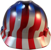 MSA V-Gard Cap Style Patriotic Hard Hat with American Stars and Stripes -  One Touch Suspension 3d7a8321531d
