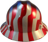 MSA FULL BRIM American Stars and Stripes Hard Hats - Front View