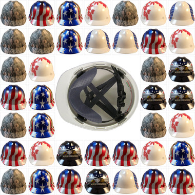 MSA Patriotic Cap Style Hard Hat with MSA One Touch Suspensions