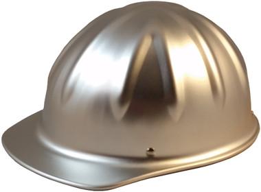 SkullBucket Aluminum Cap Style Hard Hats with Ratchet Suspensions - Oblique View