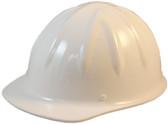 SkullBucket Aluminum Cap Style Hard Hats with Ratchet Suspensions - White - Oblique View