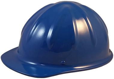 SkullBucket Aluminum Cap Style Hard Hats with Ratchet Suspensions - Blue - Oblique View