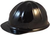 SkullBucket Aluminum Cap Style Hard Hats with Ratchet Suspensions - Black - Oblique View