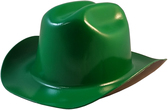 Outlaw Cowboy Hardhat with Ratchet Suspension Dark Green - Oblique View