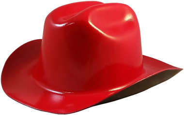 Outlaw Cowboy Hardhat with Ratchet Suspension Red - Oblique View