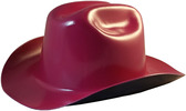 Outlaw Cowboy Hardhat with Ratchet Suspension Raspberry - Oblique View