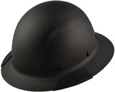 Actual Carbon Fiber Hard Hat - Full Brim Matte Black  - Left Side View