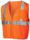 Pyramex Class 2 Self Extinguishing Mesh Hi-Vis Orange Safety Vests w/ Silver Stripes ~ Front View