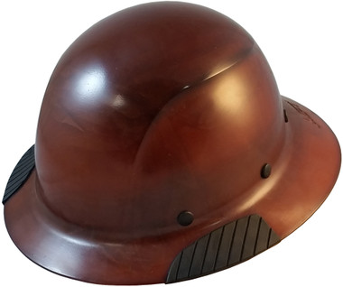 DAX Fiberglass Composite Hard Hat - Full Brim Natural Tan - Oblique View