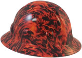 Dante's Inferno Hydro Dipped Hard Hats Full Brim Style - Oblique View