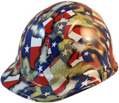 Texas Pride Cap Style Hydro Dipped Hard Hats - Oblique View