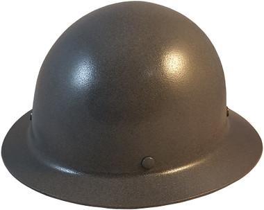 MSA Skullgard Full Brim Hard Hat with FasTrac III Ratchet Suspension - GUNMETAL - Oblique View