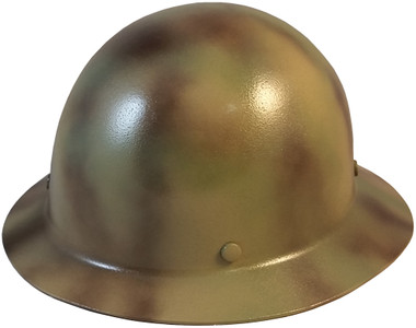 MSA Skullgard Full Brim Hard Hat with STAZ ON Suspension - CAMO - Oblique View