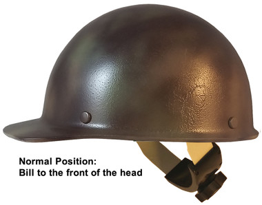 MSA Skullgard Cap Style Hard Hats With Swing Suspension Textured CAMO ~ Swing Suspension in Normal Position