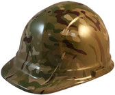 MultiCam Camo Cap Style Hydro Dipped Hard Hats - Oblique View