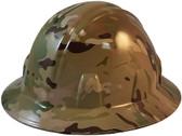 MultiCam Camo Hydro Dipped Hard Hats Full Brim Style - Oblique View