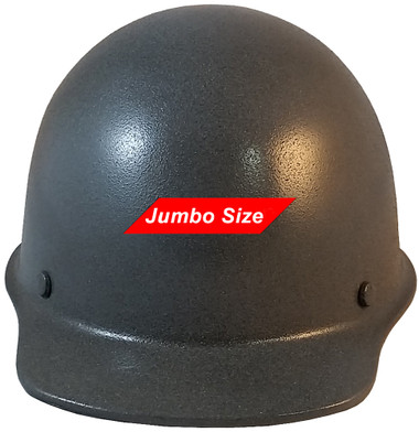 MSA Skullgard (LARGE SHELL) Cap Style Hard Hats with STAZ ON Suspension - Textured GUNMETAL - Back View