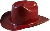 Outlaw Cowboy Hardhat with Ratchet Suspension Maroon - Oblique View