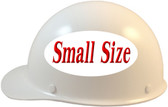 MSA Skullgard (SMALL SHELL) Cap Style Hard Hats with Ratchet Suspension - White - Left Side View