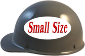 MSA Skullgard (SMALL SIZE) Cap Style Hard Hats with Ratchet Suspension - Gray  - Left Side View