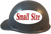 MSA Skullgard (SMALL SIZE) Cap Style Hard Hats with Ratchet Suspension - Textured GUNMETAL - Left Side View